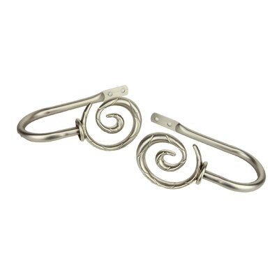 Rod Desyne Modern Spiral Curtain Holdback (Set of 2)