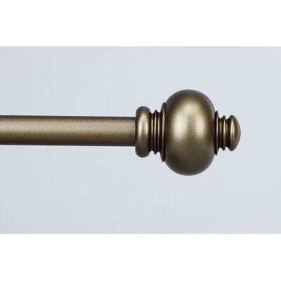 Rod Desyne Classic Knob Curtain Rod in Antique Gold