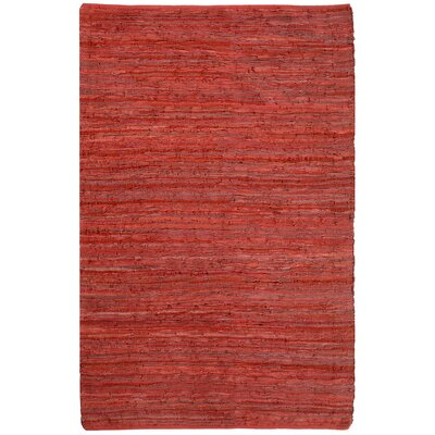 St. Croix Matador Leather Chindi Red Rug