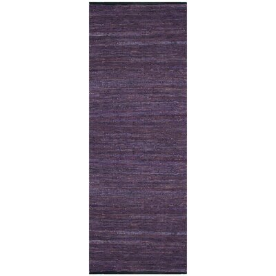 St. Croix Matador Leather Chindi Purple Rug