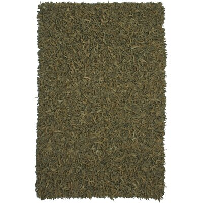 Pelle Leather Green Rug