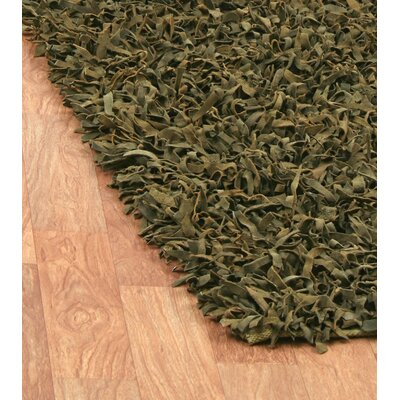 St. Croix Pelle Leather Green Rug