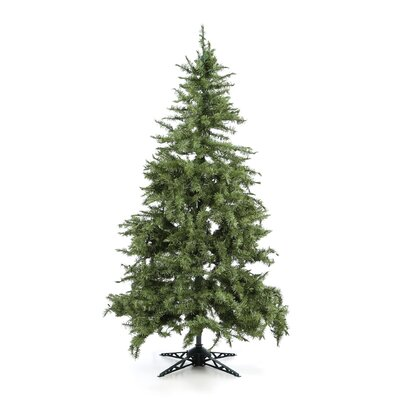 "General Foam Plastics 77"" Green Evergreen Fir Artificial Christmas Tree with 450 Pre-Lit Clear Lights"