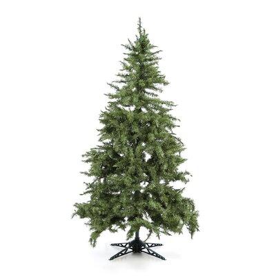 """General Foam Plastics 77"""" Green Evergreen Fir Artificial Christmas Tree with 450 Pre-Lit Clear Lights"""