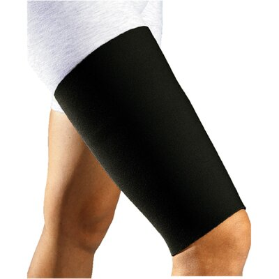 Bell-Horn Thigh Sleeve in Black / Red