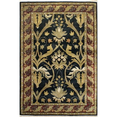 American Home Rug Co. American Home Classic Arts & Crafts Black/Burgundy Rug