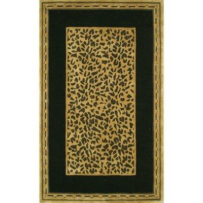 American Home Rug Co. African Safari Gold/Black Cheetah Print Rug