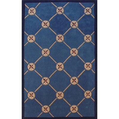 Beach Rug Dark Blue Compass Novelty Rug