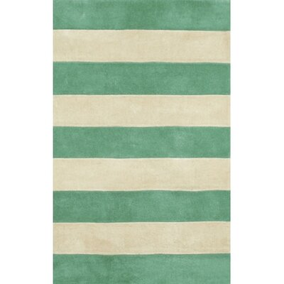 American Home Rug Co. Beach Rug Teal/Ivory Boardwalk Stripes Rug