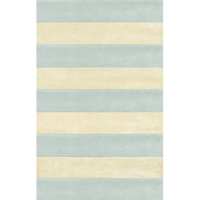 Beach Rug Light Blue/Ivory Boardwalk Stripes Rug