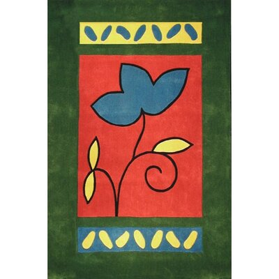 American Home Rug Co. Bright Rug A Single Flower Novelty Rug