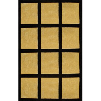 Bright Rug Window Blocks Yellow/Black Rug