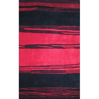bright horizon pink black area rug wayfair. Black Bedroom Furniture Sets. Home Design Ideas