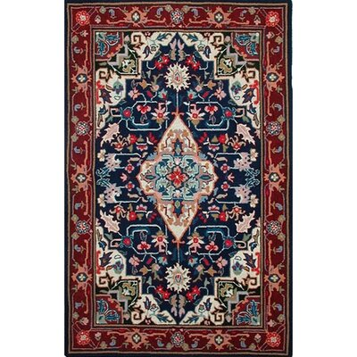 Bucks County Heriz Navy/Burgundy Rug