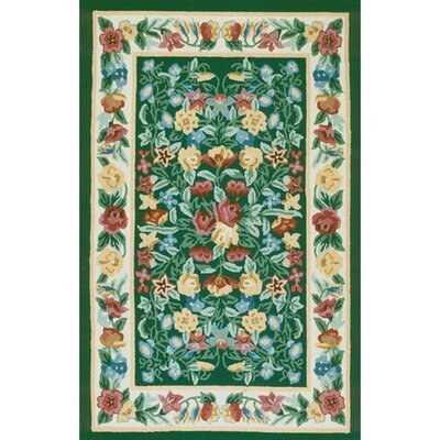 American Home Rug Co. Bucks County Floral Garden Emerald Green/Ivory Rug