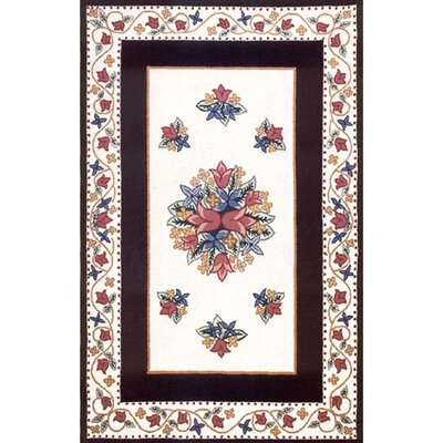 American Home Rug Co. Bucks County Tulip Ivory/Navy Rug