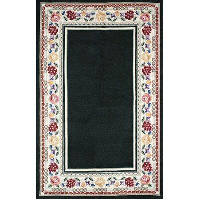 Bucks County Black/Ivory Border Rug
