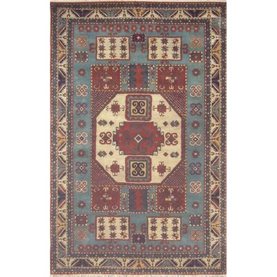 Cactus Ranch Light Blue/Antique Ivory Kazak Rug