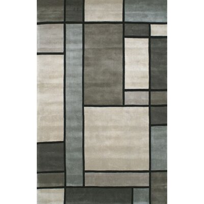 Casual Contemporary Grey/Slate Metro Rug