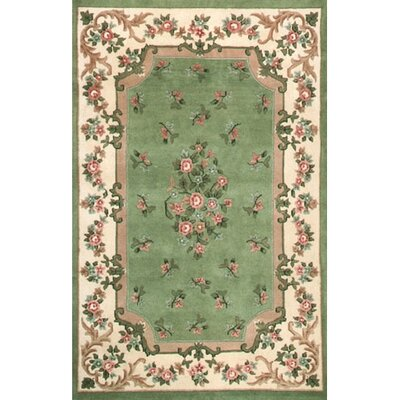Floral Garden Floral Aubusson Light Green/Ivory Rug