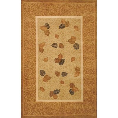 Neo Nepal Pale Sage/Gold Golden Leaves Rug