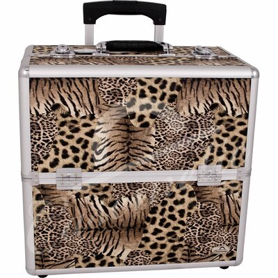 Casemetic Animal Print Rolling Makeup Case
