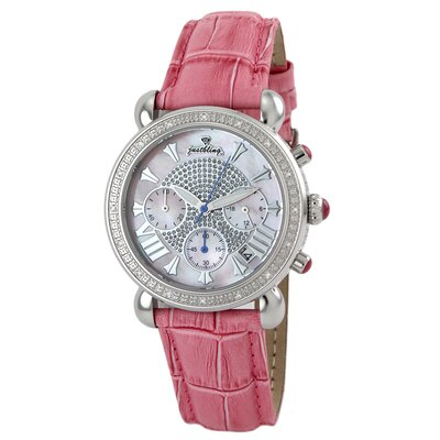 JBW Victory Leather Diamond Watch