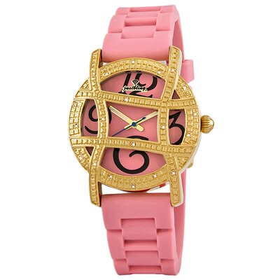 JBW Women's Olympia Watch in Pink with Pink Dial