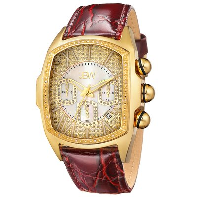 JBW Men's Ceasar Leather Watch in Brown