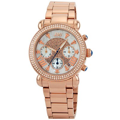 Women's Victory Watch in Rose Gold with White Dial