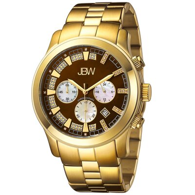 Men's Delano Watch in Gold with Brown Dial