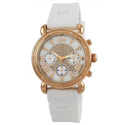Victory Sport Ladies Diamond Watch in Rose Gold White