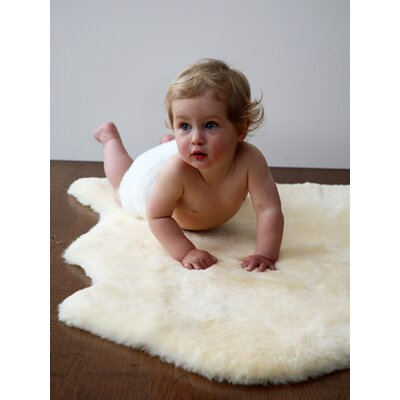 Elks & Angels Sheepskin Shorn Lambskin Solid Kids Rug