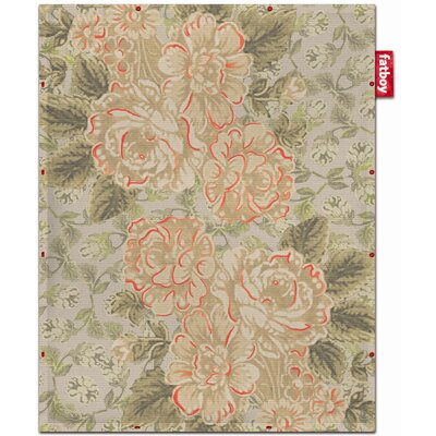 Fatboy Non-Flying Red Floral Rug