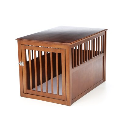 Crown Pet Products Pet Crate Table made with Eco-Friendly Rubberwood