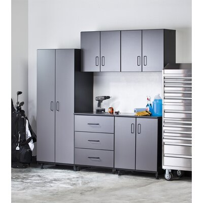 Tuff-Stor 5 Piece Storage System in Charcoal Grey and Textured Black