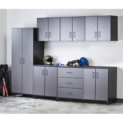 Tuff Stor Tuff-Stor 7 Piece Storage System in Charcoal Grey and Textured Black