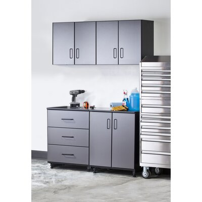 Tuff Stor Tuff-Stor 4 Piece Storage System in Charcoal Grey and Textured Black