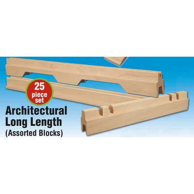 Stack and Stick Architectural Long Length Building Set (25 Pieces)