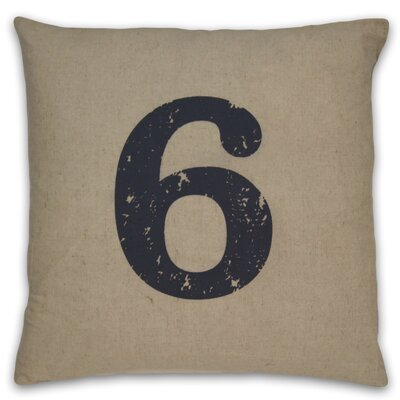 DR International Numeral 6 Pillow