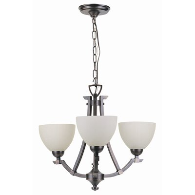 Key West 3 Light Semi Flush Mount/Chandelier