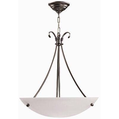 dvi georgian 3 light bowl inverted pendant reviews wayfair. Black Bedroom Furniture Sets. Home Design Ideas