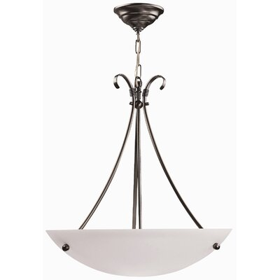 DVI Georgian 3 Light Bowl Inverted Pendant