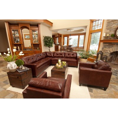 Carlton Leather Sectional