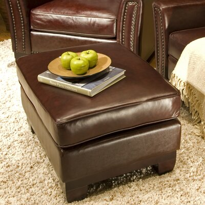 Elements Fine Home Furnishings Serafina Leather Cocktail Ottoman