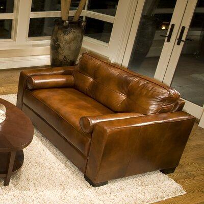 Soho Top Grain Leather Oversized Chair And Ottoman Wayfair