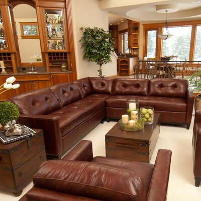 Elements Fine Home Furnishings Carlton Leather Sectional
