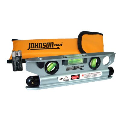 Johnson Level and Tool Magnetic Aluminum Torpedo Laser Level