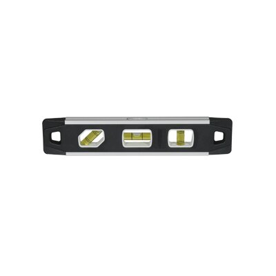 "Johnson Level and Tool 9"" Magnetic Aluminum Reinforced Torpedo Level with Surround View"