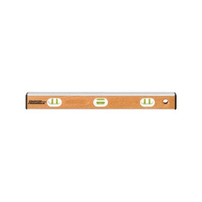 "Johnson Level and Tool 24"" Bamboo Aluminum I-Beam Level"
